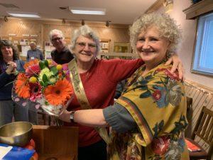 Bev Lawson is our 2019 Volunteer of the Year, Julie Holmberg proclaimed.