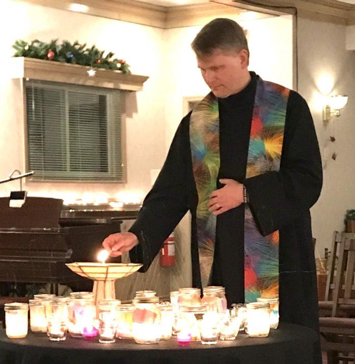 Rev. Joe led our celebration of the Winter Solstice.